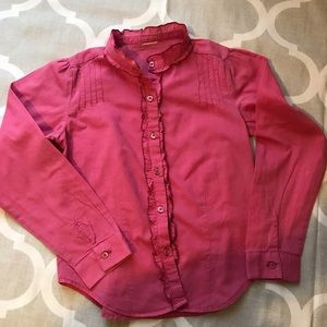 Other - Girls button up long sleeve top